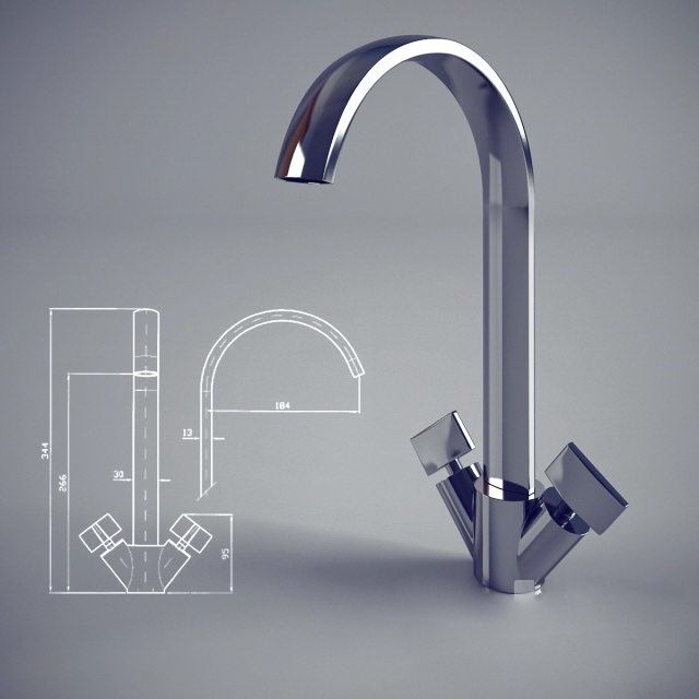 Basin Faucet Tap Mixer 3d model
