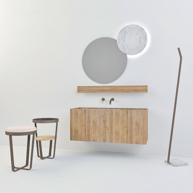 Modern Bathroom Vanity Set 3d model