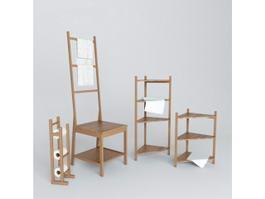 IKEA Bathroom Shelving Set 3d model
