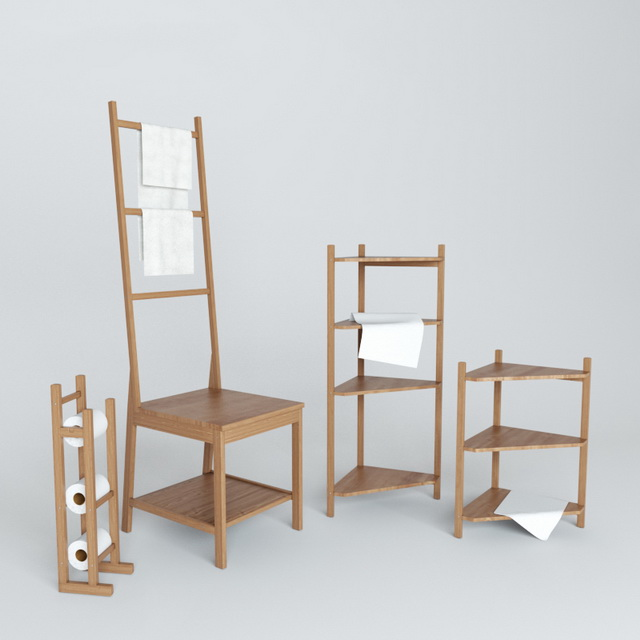 IKEA Bathroom Shelving Set 3d model