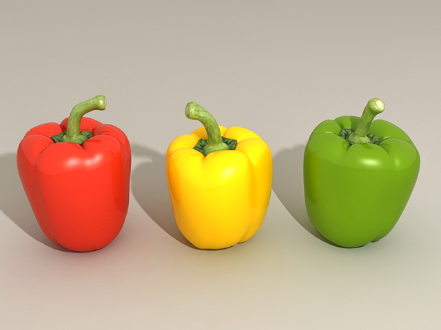 Sweet Bell Peppers 3d model