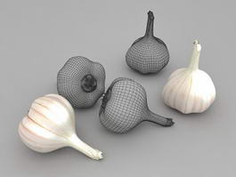 Garlic Cloves 3d model