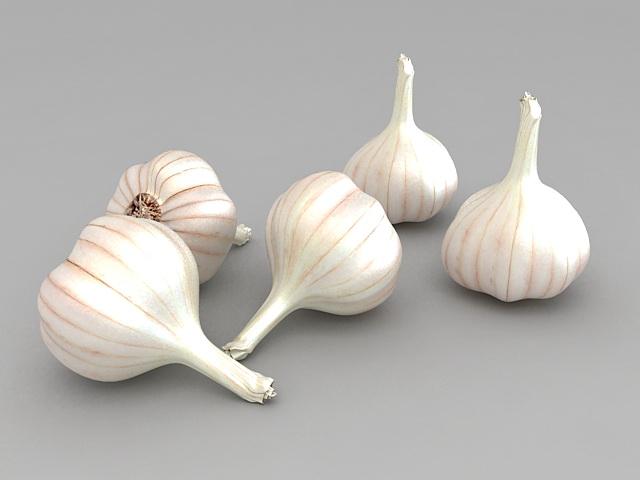 Garlic Cloves 3d model