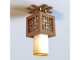 Japanese Style Ceiling Light Fixture 3d model