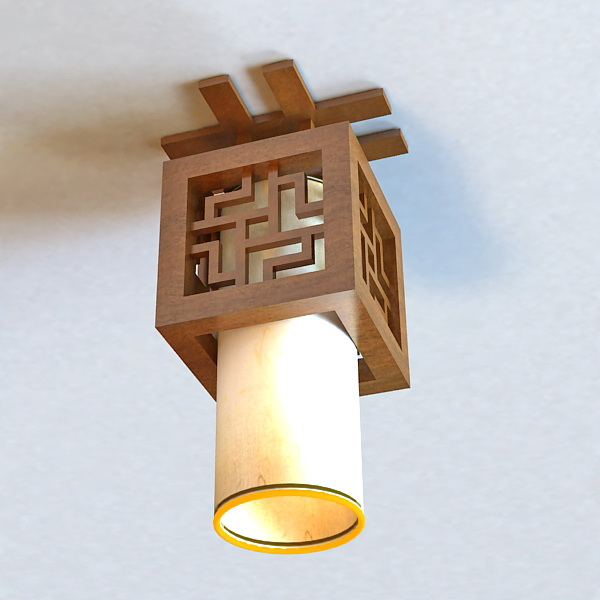 Ceiling Light Japanese: Japanese Style Ceiling Light Fixture 3d Model 3ds Max