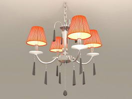 4-Arm Pendant Light 3d model