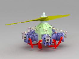 Helicopter Engine 3d model