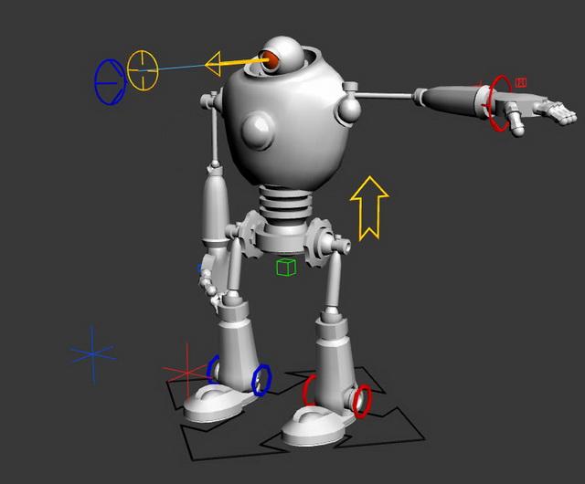 Humanoid Robot 3d model