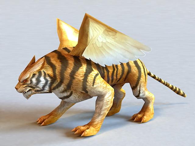 Winged Tiger 3d model