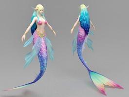 Beautiful Mermaid 3d model