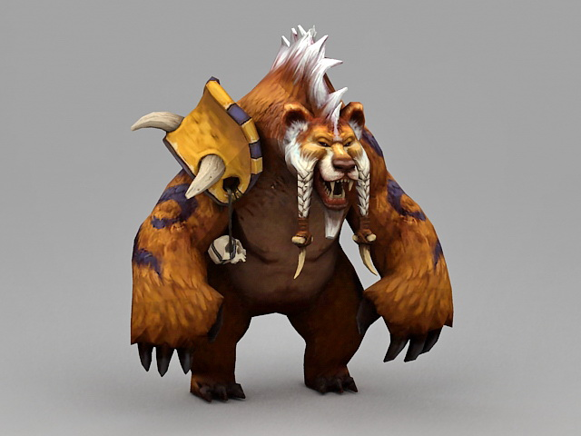 Druid Bear 3d model