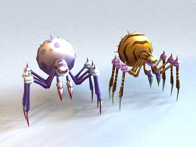 Monster Spider Rigged 3d model