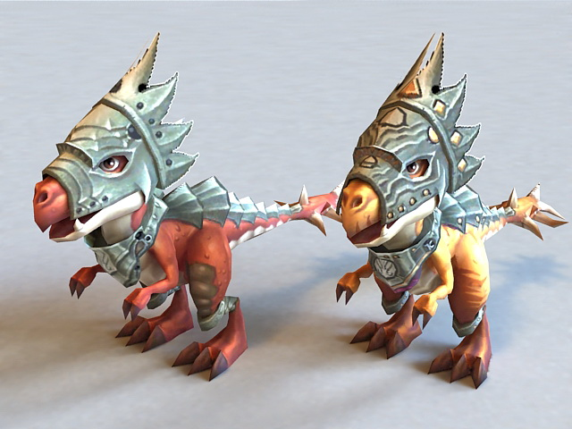 Dinosaurs with Armor 3d model