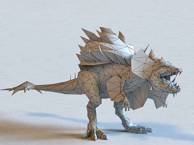 Low Poly 3d Animal Model Of Monster Beast Dinosaur Available File Format Max Autodesk 3ds Texture Dds Free Download This Objects And