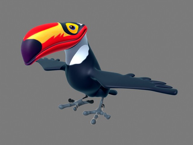 Toco Toucan 3d model