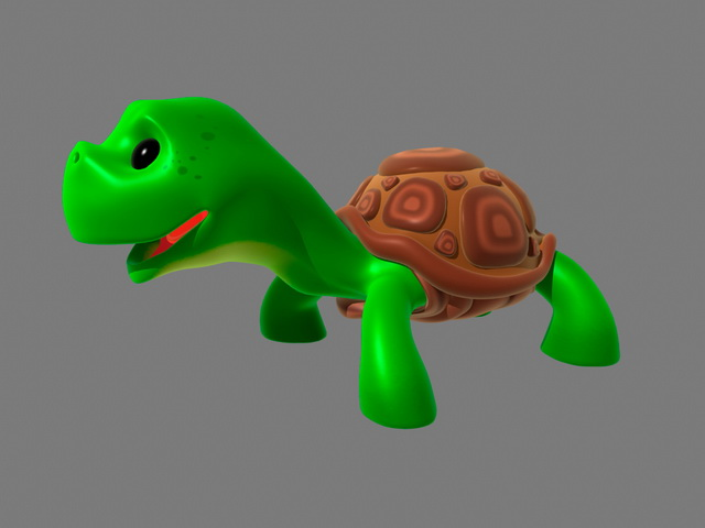 Cute Cartoon Turtle 3d model