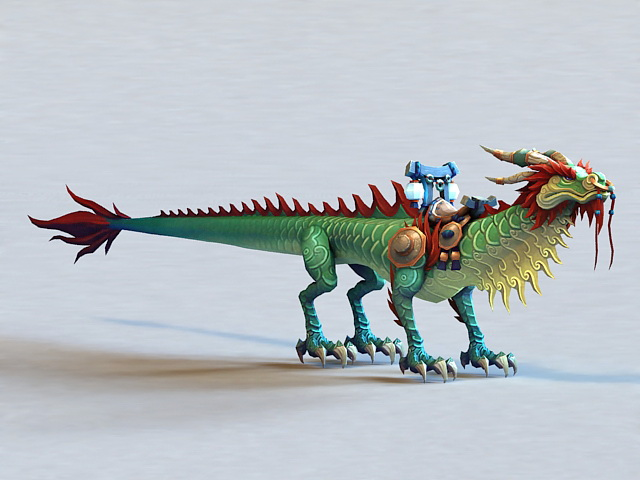 Thundering Jade Cloud Serpent 3d model