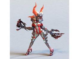Dark Elf Red 3d model