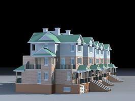 Modern Townhouse 3d model