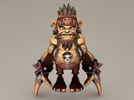 Pygmy Warrior Male 3d model