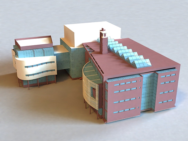 Small Office Building 3d model
