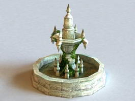 Ancient Fountain Ruin 3d model