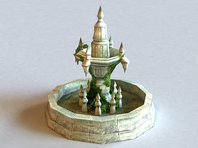 Ancient Fountain Ruin 3d model