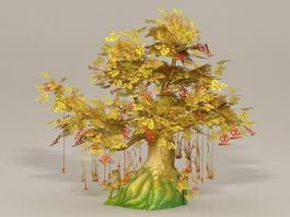 Anime Wishing Tree 3d model