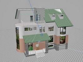 Beautiful House 3d model