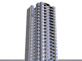 Apartment Blocks 3d model