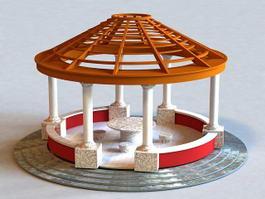 Round Pavilion Structure 3d model