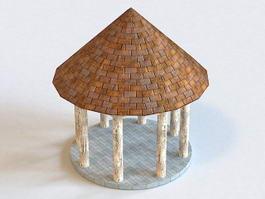 Oriental Style Gazebo 3d model