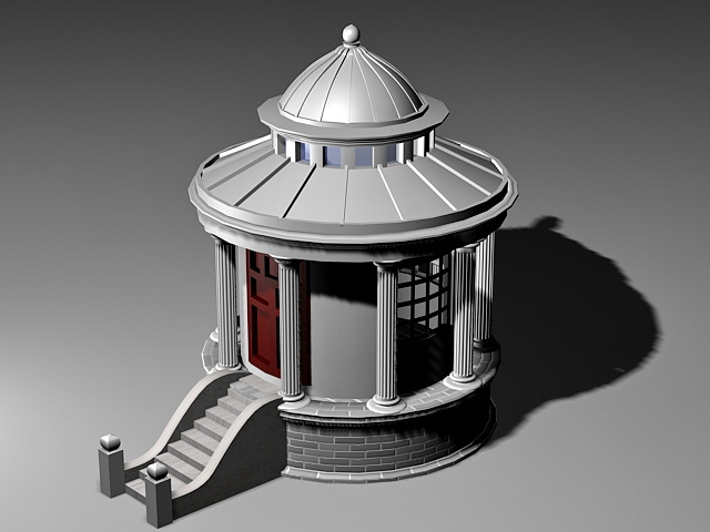 Small Backyard Pavilion 3d model