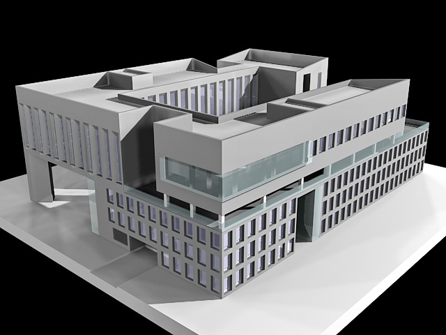 Business Office Buildings 3d Model 3ds Max Files Free