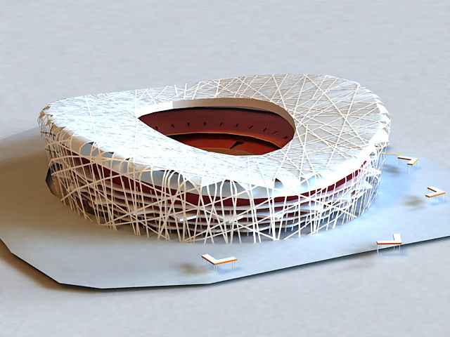 National Stadium 3d model