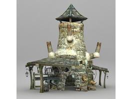Medieval Blacksmith 3d model