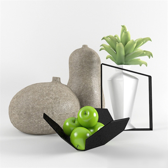Desk Decorations Plant 3d model