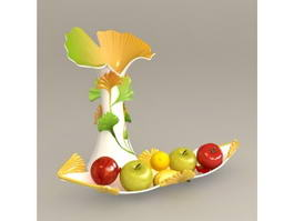 Decorating Vases and Fruit 3d model
