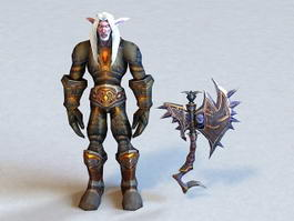 Dark Elf Male Warrior 3d model