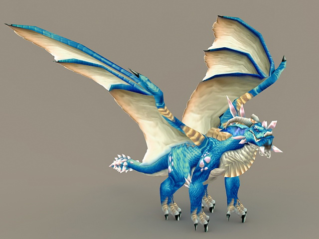 Blue Dragon 3d model