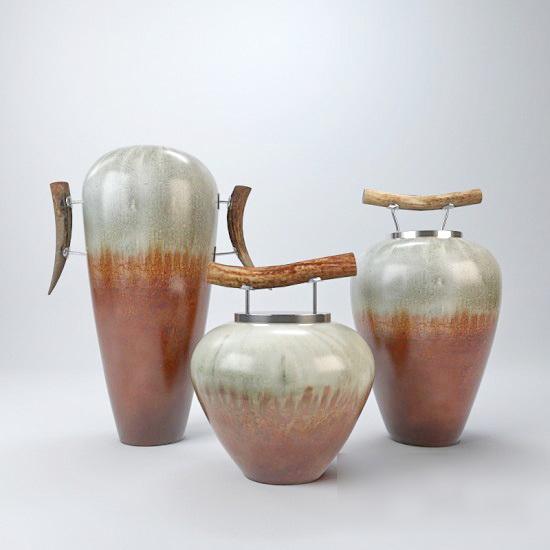 Deco Clay Jars Pottery 3d model