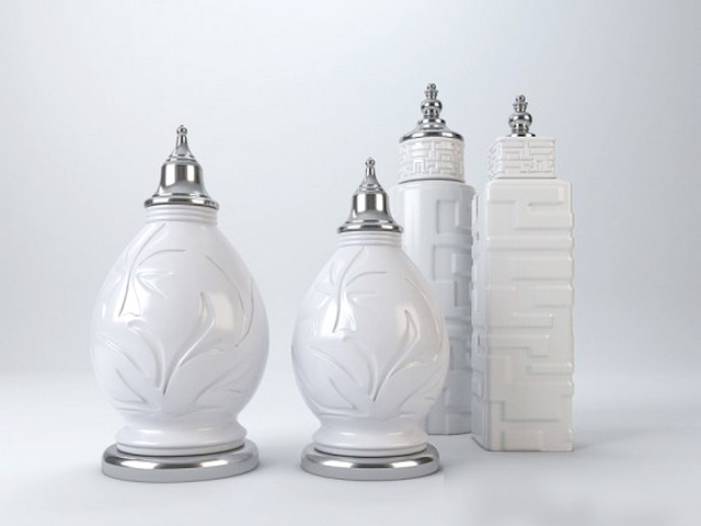 Decorative Ceramic Vases 3d model
