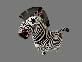 Cartoon Zebra Rigged 3d model
