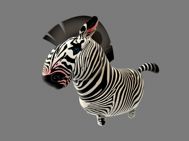 Cartoon Zebra Rigged 3d model
