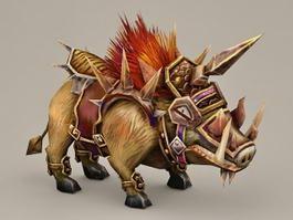 Armored Wild Boar 3d model