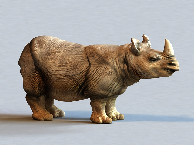 Sumatran Rhinoceros 3d Model 3ds Max Object Files Free