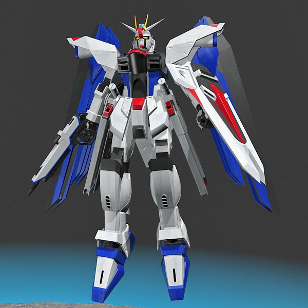 Mobile Suit Gundam 3d Model 3ds Max Files Free Download