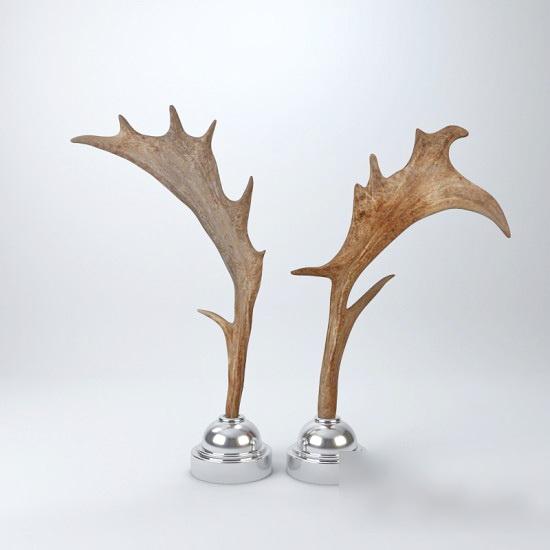 Moose Antlers Decro 3d model