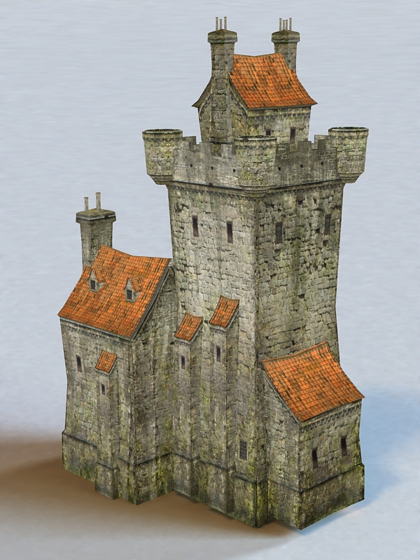 Village Castle 3d Model 3ds Max Files Free Download