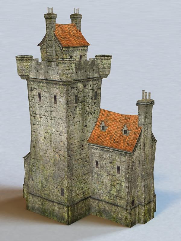 Village Castle 3d Model 3ds Max Files Free Download
